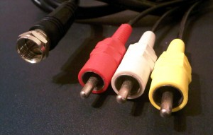 An example of a coaxial cable and composite cables